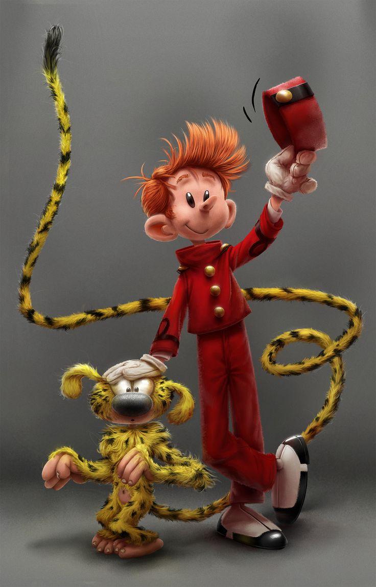 Spirou & Marsupilami by Franquin by Alex Blain