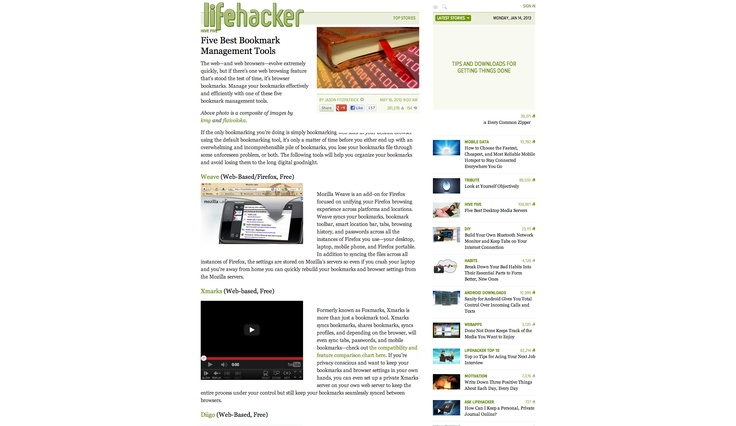 Five Best Bookmark Management Tools