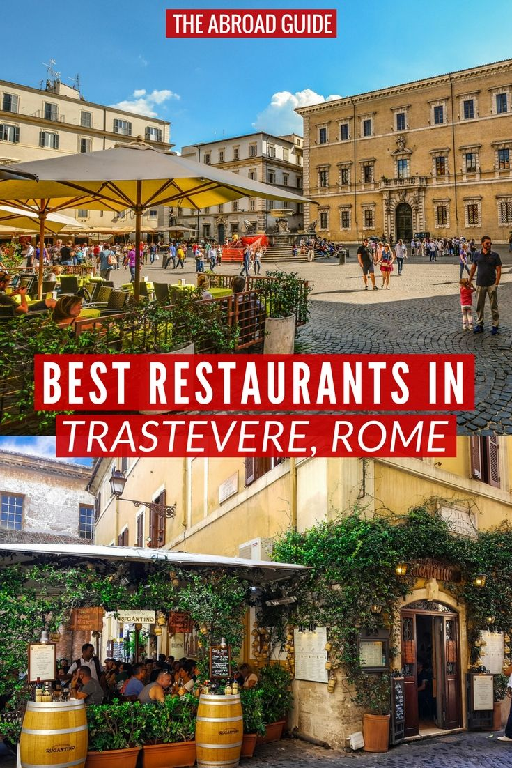 Eat Like A Local At These Top Restaurants In Trastevere Rome Is Locally Loved Area Where You Can And Drink Well