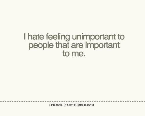 feeling unimportant? ): words-impact-people
