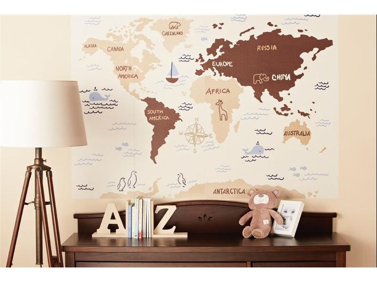Best Nursery Inspiration Images On Pinterest Nursery - Toys r us wall maps