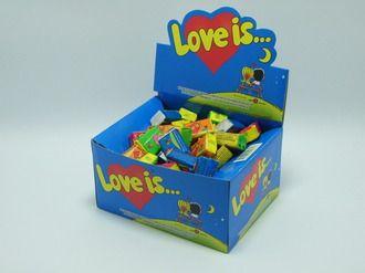 Блок Love is - Ассорти 5 вкусов 100 шт! Упаковка жвачки Love is — это уникальный, неожиданный и сногсшибательный подарок. Он обладает по истине волшебными свойствами. Да это самая настоящая МАШИНА ВРЕМЕНИ и лучшее ПРИЗНАНИЕ В ЛЮБВИ