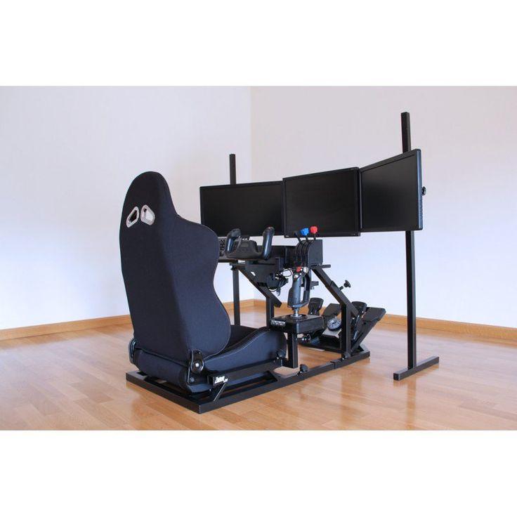 Sistema pa simulador de vuelo de combate y comercial