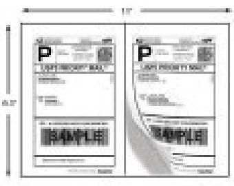 Shipping Labels 400 Half-Page Shipping Labels by TheShippingGuru