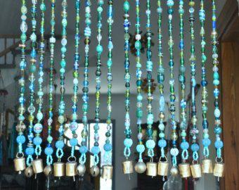 Perlen Vorhang-Bead Vorhang-böhmischen von RonitPeterArt auf Etsy