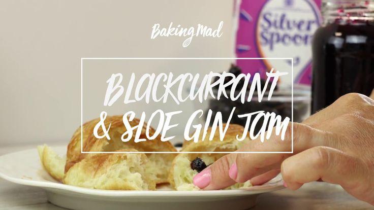 How to make Blackcurrant Sloe Gin Jam. Recipe here: https://www.bakingmad.com/recipe/blackcurrant-and-sloe-gin-jam