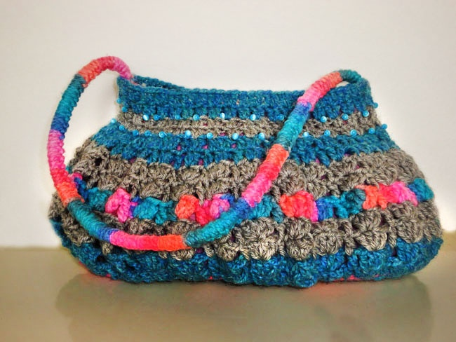 Beautiful Woolen purse with spring colors, perfect to match with party dress... on sale $24.99