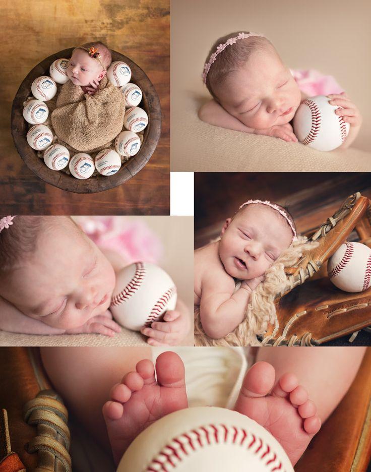 Princess and the Baseball | Jacksonville Newborn Photographer|Maternity|Baby|Children Portraits|Ponte Vedra #jacksonvillenewbornphotographer #baseballandnewborn #baseballthemephotoidea