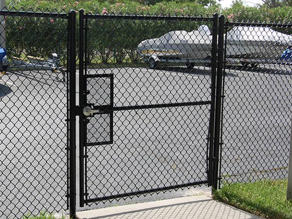 Metal Fence Door Chain Link Fence Gate Black Chain Link Fence Chain Link Fence