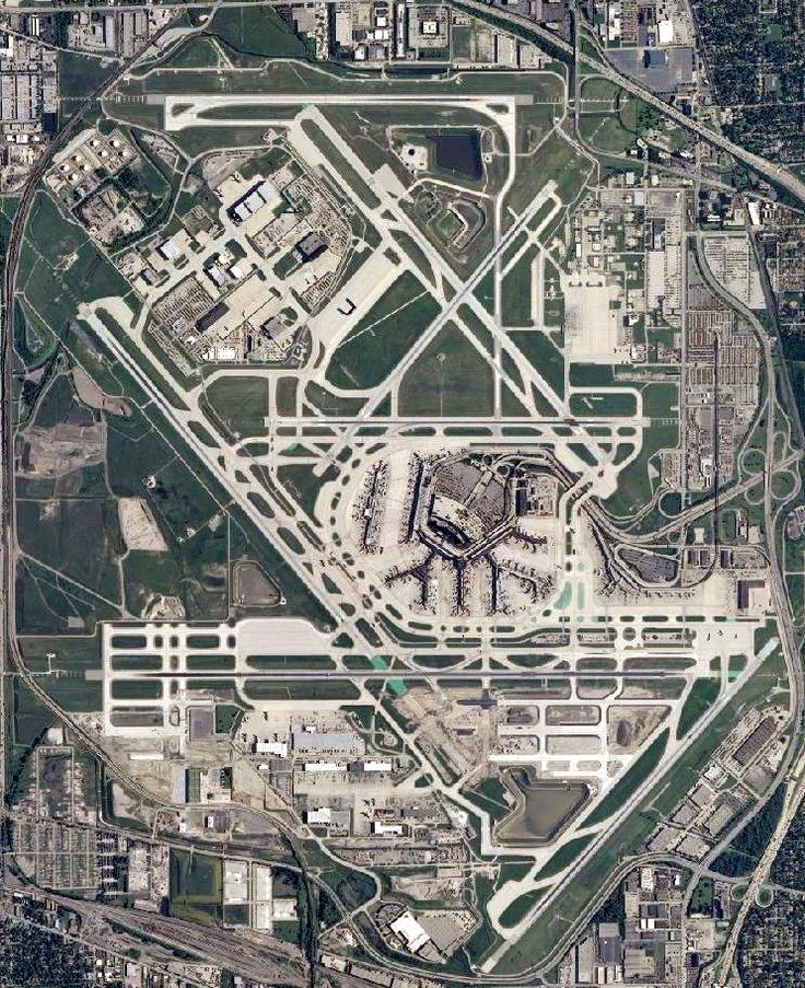 Ou0027Hare from the air Chicago Pin of
