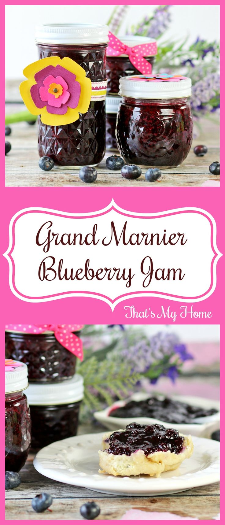 Grand Marnier Blueberry Jam - fresh picked blueberries made into jam with a hint of Grand Marnier #FreshFromFlorida #ad