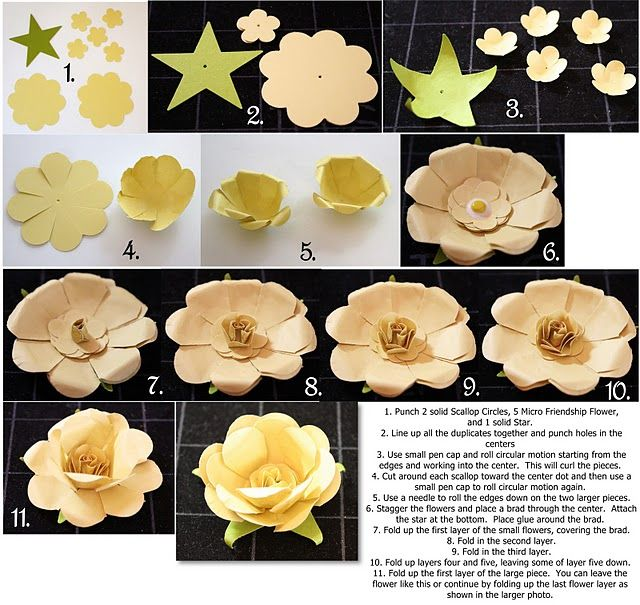 Flowers using punches