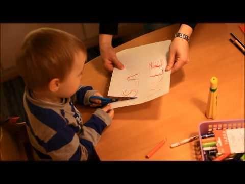 kirjoittamista pienille lapsille - YouTube