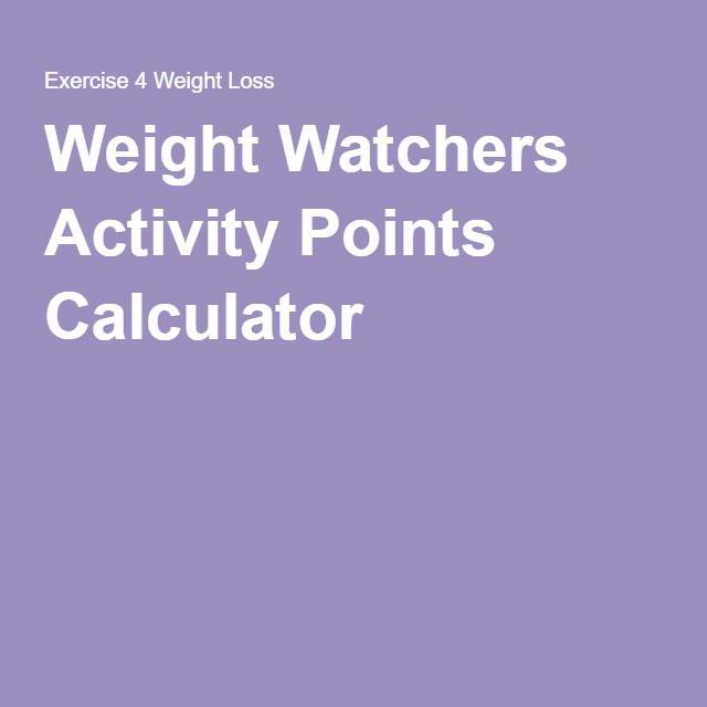 Weight Watchers Activity Points Calculator