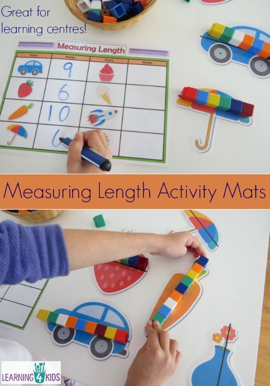 Printable Measuring Length Learning Centre Mats | The PreK ...