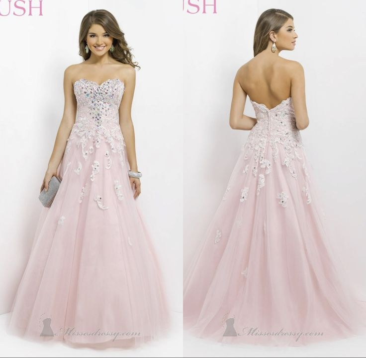 Fashionable Dress 2014 Pink Shining Ball Gown Floor Length Appliques Sweetheart  Sleeveless Empire Satin Prom Dresses Promotions