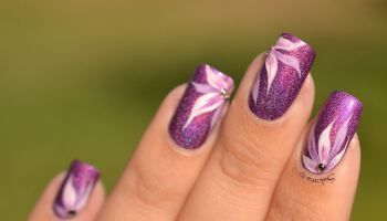 Nail Art Pétales de Chardon