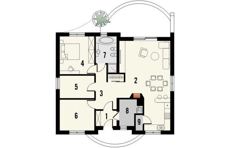 Projekt domu dwurodzinnego LIMONKA -