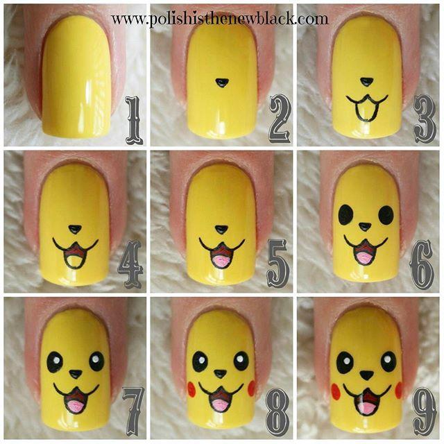 Instagram photo by polishisthenewblack - Last but not least... Pikachu! Full details on the blog! #gamenails #gamefreak #nailfashionfix #nails4yummies #nailsofinstagram #pokemon #pokemonnails #pokemonnailart #pikachu #pikachunails #pikachunailart #nintendo #notd #nag_repost #craftyfingers #nailporn #nailarttut #nailarttutorial