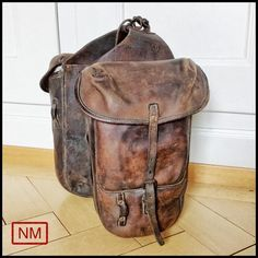 Vintage Swiss Army Saddle Bags Connected Horse by NaturaMachinata