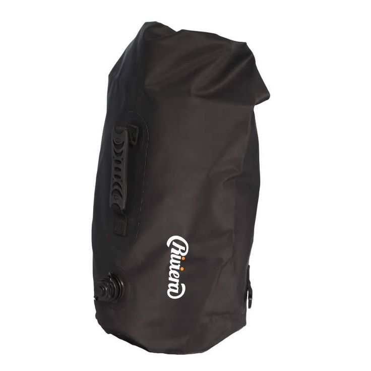 Riviera   Our Products  Water-proof bag Diameter 25 x 38cm/20L  Tarpaulin  Backpack + handle + air outlet  WATER-PROOF
