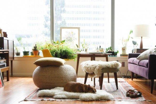 15 Creative Places to Use the IKEA Sheepskin Rug via Brit + Co.
