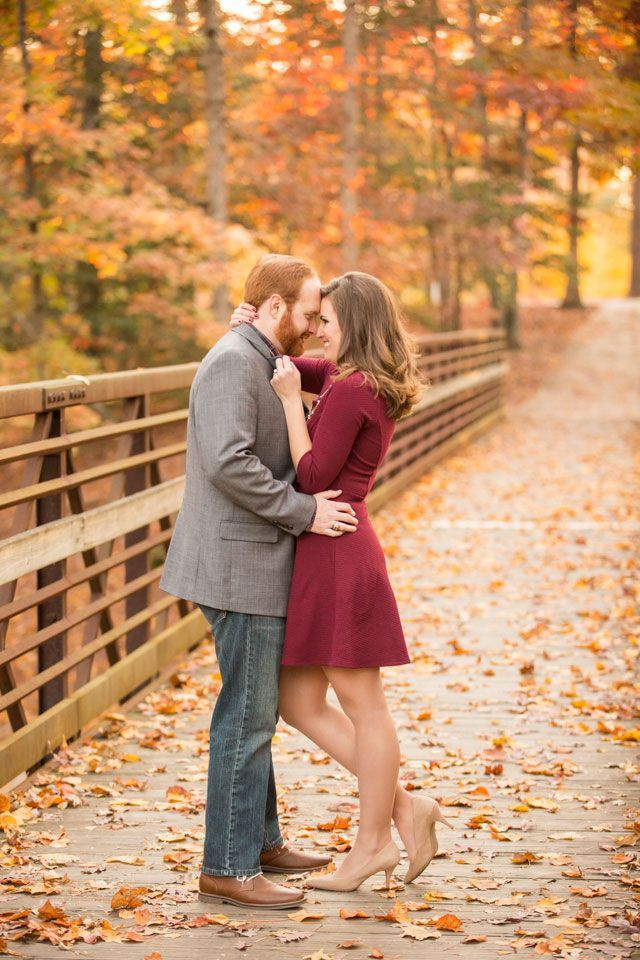 A romance-filled picnic engagement session surrounded by fall foliage | Ryan & Alyssa Photography: http://ryanandalyssa.com