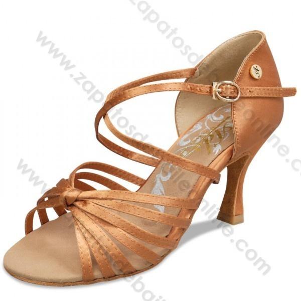 Zapatos baile salón latino profesional color cobre con nudo altos - Zapatos de Baile Online http://www.zapatosdebaileonline.com/es/product/a2079-75-zapatos-baile-salon-latino-cobre-con-nudo-altos