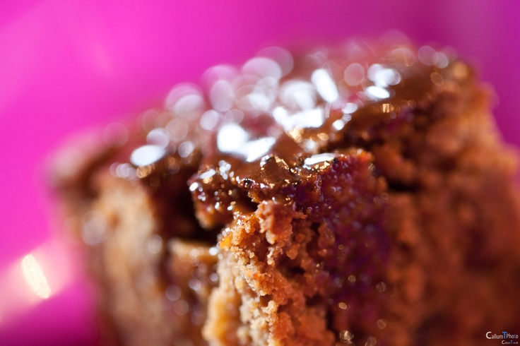 Homemade sticky toffee pudding.