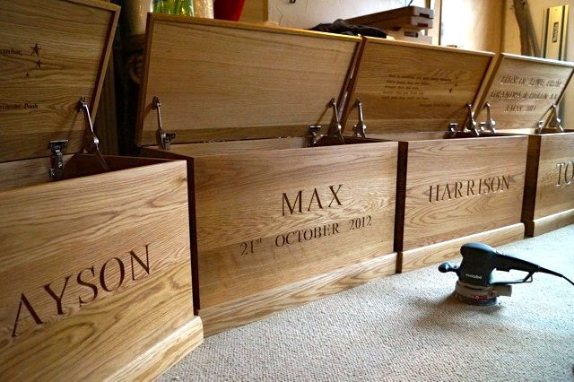 Personalised Children's Wooden Toy Boxes| MakeMeSomethingSpecial.co.uk