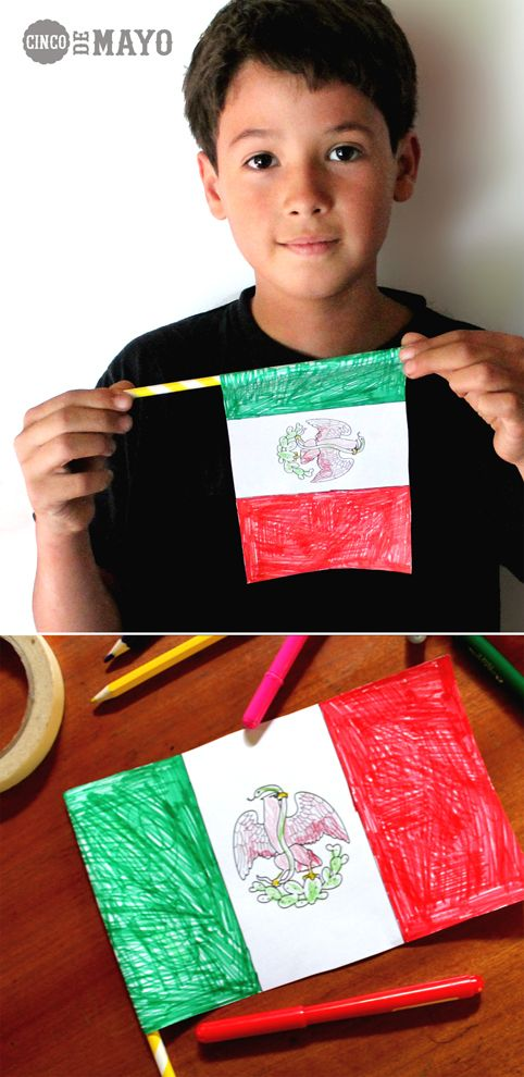 Learn and celebrate! Cinco de Mayo worksheets -10 Instant downloads including games, coloring-in sheets and quizzes, DIY Mexican color-in flag! happythought.co.uk/cinco-de-mayo/cinco-de-mayo-worksheets