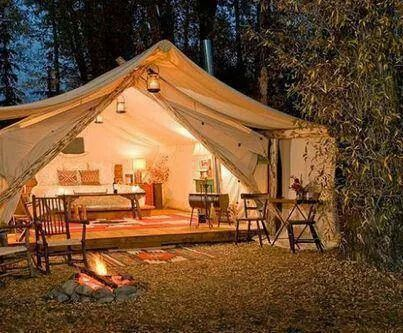 The most amazing camp site ever!!!! Love this~