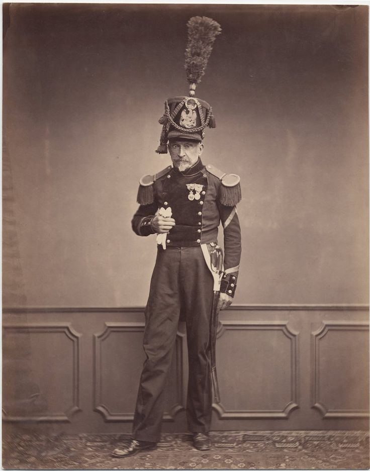 Monsieur Lefebre, Sergeant 2nd Regiment of Engineers, 1815  // c. 1858: Photos of Veterans of the Napoleonic Wars