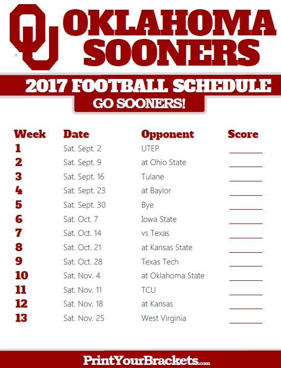 2017 Oklahoma Sooners Football Schedule https://www.fanprint.com/licenses/air-force-falcons?ref=5750