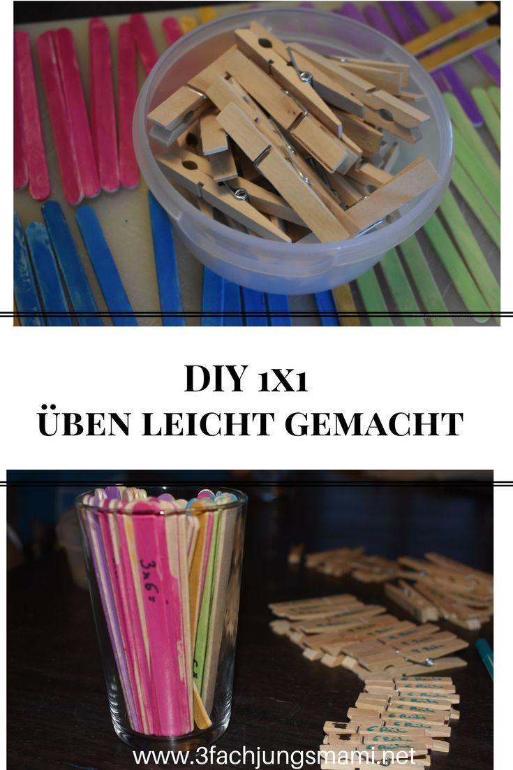 Ein einfaches DIY zum 1x1 üben #diy #basteln #schule #einmaleins