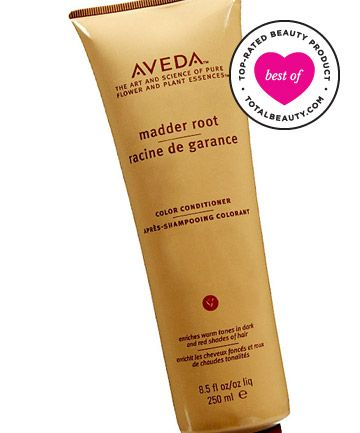 Best Color Protecting Conditioner No. 7: Aveda Madder Root Color Conditioner, $21 - Equipped with both henna and madder root, this conditioner protects warm brunettes and reds. For women who dye their hair red or auburn, it helps during the winter, when color gets a little dull and also has an excellent  moisturizing quality.