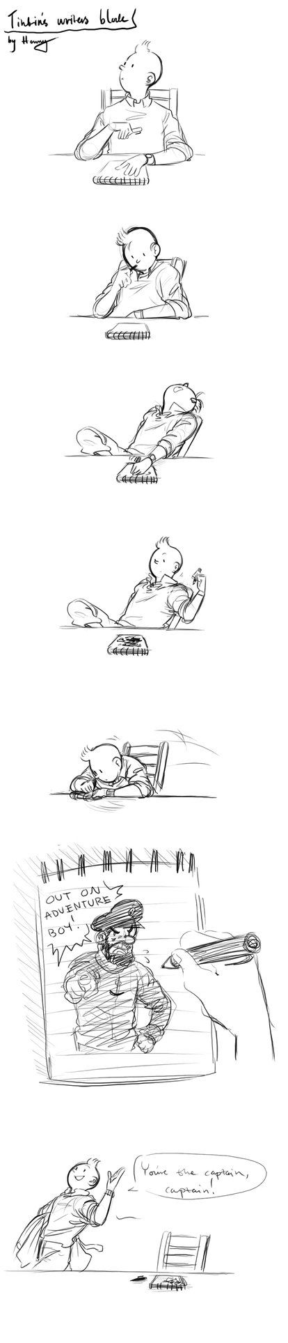 How I feel when I do homework! Right on Tintin!