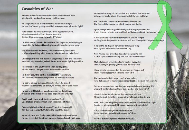 """""""Casualties of War"""" Poem by Heather Burton Reynolds   What is Lyme Disease?"""