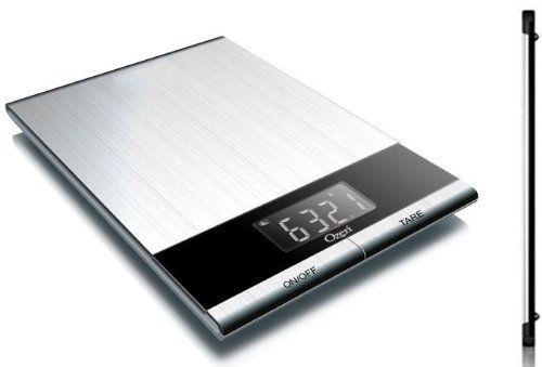 Ozeri Ultra Thin Professional Digital Kitchen Food Scale, in Elegant Stainless Steel by Ozeri, http://www.amazon.com/dp/B002UEZ2FC/ref=cm_sw_r_pi_dp_2ZHnrb1CX9NDD