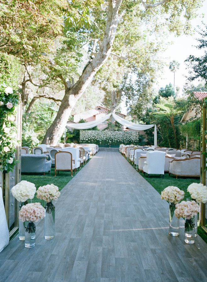 Outdoor garden wedding ceremony: http://www.stylemepretty.com/2017/02/23/the-perfect-recipe-for-an-elegant-bel-air-wedding/ Photography: Elizabeth Messina - http://www.elizabethmessina.com/#!/images/love/gallery/1
