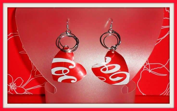 earrings - coca cola - diy