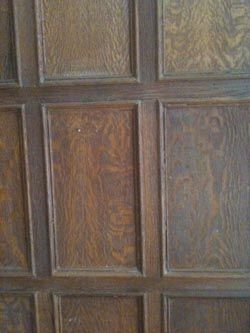 Good wood paneling before and after