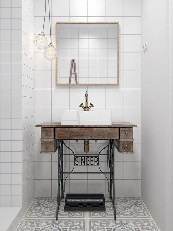 Bathroom Vanity Hacks for Small Spaces   Do you have a tiny bathroom without a vanity? Small bathrooms require easy and efficient sink organization. Here are vanity ideas that work in any size space that end up stylish and functional!