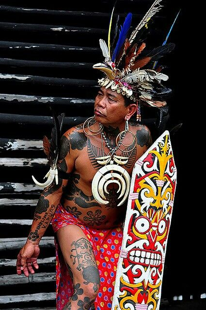 the original local Dayak tribes west borneo Indonesia
