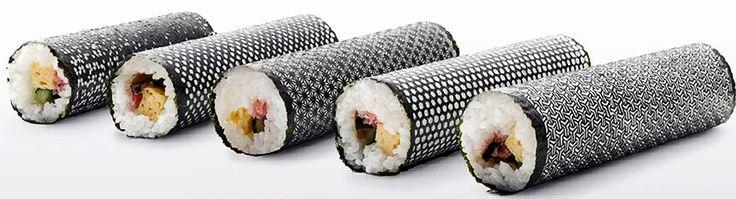 Food design    Folhas de alga para sushi com um toque de design