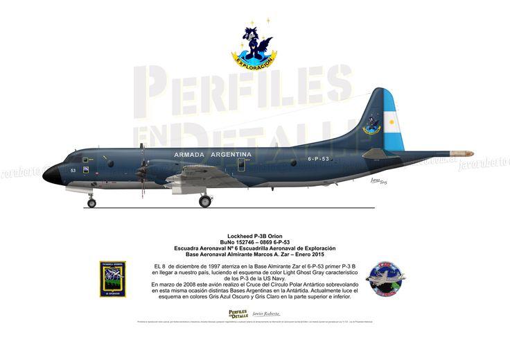 Lockheed P-3B Orion BuNo 152746 – 0869 6-P-53 Escuadra Aeronaval Nº 6 Escuadrilla Aeronaval de Exploración Base Aeronaval Almirante Marcos A. Zar – Enero 2015