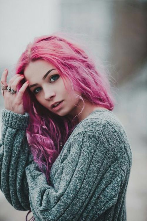 I'm sorry. I couldn't resist the pink hair. // Maria, age 17. Likes comfy clothes, excessive amounts of rings and rebelling against her parents.