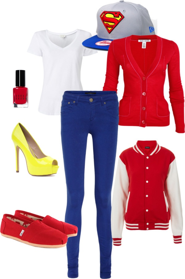 """superman outfit"" by gabbygoo09 on Polyvore"
