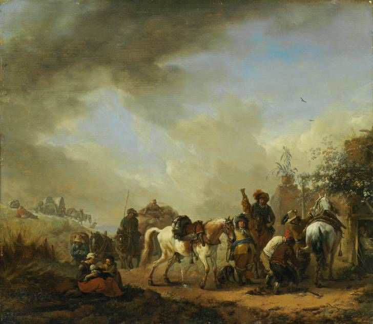 Philips Wouwerman (1619-1668): The mold in front of the smithy, after 1654 , Museumlandschaft Hessen Kassel, picture gallery of Old Masters, © Museumlandschaft Hessen Kassel