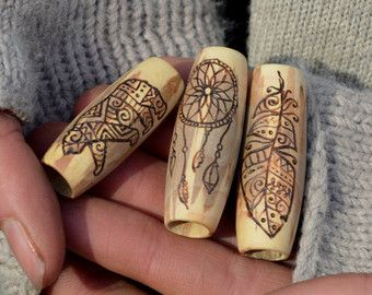 Nature leaves me speechless  5 dread beads set by HeadstrongHippie